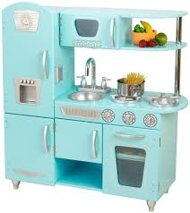 classic paint cabinets white and blue kitchen appliance as retro