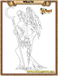 coloring pages wraith by wizard101devinstale on deviantart