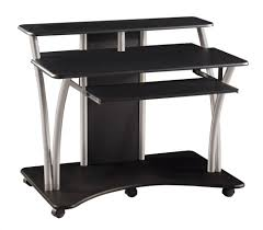 best small black glass computer desk 46 in home pictures with