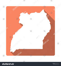 Map Of Uganda Uganda Map Modern Flat Icon Long Stock Vector 345401555 Shutterstock