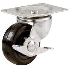 everbilt 2 1 2 in soft rubber swivel plate caster with 100 lb