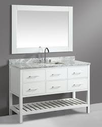 54 Bathroom Vanity Design Element Cambridge Single 54 Inch Modern Bathroom