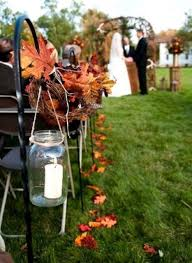 fall wedding decorations 37 stunning fall wedding aisle décor ideas weddingomania