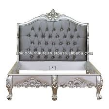 silver bed silver leaf upholstered bed buy silver leaf upholstered bed