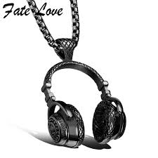 mens necklace stores images Hip hop jewelry men necklace stainless steel music headphone jpg