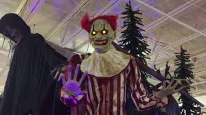 clown costumes spirit halloween seasonal visions towering clown spirit halloween 2017 youtube