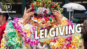 graduation leis giving at of hawaii at manoa 2017 graduation
