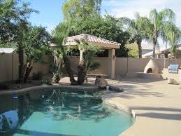 contemporary patio with outdoor kitchen u0026 fence in gilbert az