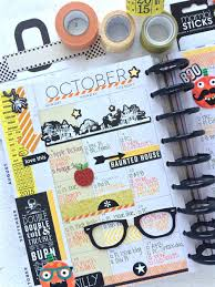 halloween themed birthday the happy planner october planners and happy planner