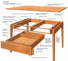 Fine Woodworking Bookcase Plans by Making A Writing Desk Finewoodworking