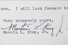 martin luther king jr writing paper mlk s take on richard nixon antiques roadshow pbs click to enlarge this photo of mlk jr s letter