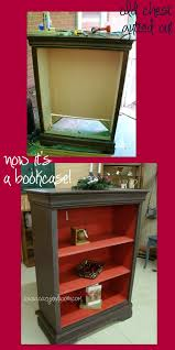 another repurposed chest this time into a distressed bookcase