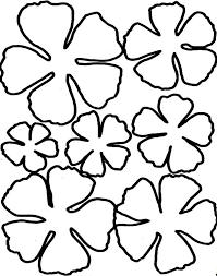 flower petal template cliparts co