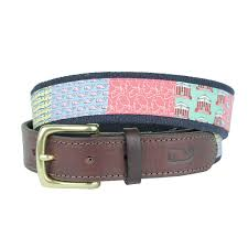 vineyard vines custom charlottesville canvas belt