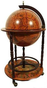 Globe Drinks Cabinet Old Modern Handicrafts Globe Drinks Cabinet Floor Stand White