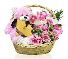 flower basket godiva flowers gift basket impress your free delivery dubai