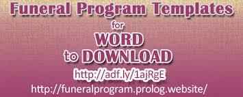 funeral program software free funeral program templates