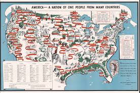 Picture Of A Map Of The United States Of America by Diversity Map 1940 Map Of American Ethnic Groups Owned By