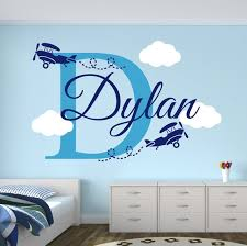 Airplane Kids Room by Aliexpress Com Buy Custom Boys Name Airplane Clouds Decal