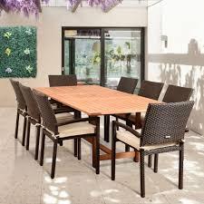 hanover manor 9 piece aluminum rectangular outdoor dining set with