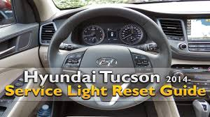 hyundai tucson service light reset youtube