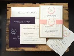 new years wedding invitations monogram wedding invitations gold plum and blush elegant