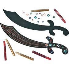 Princess Crafts For Kids - pirate and princess crafts for preschoolers pirate sword craft