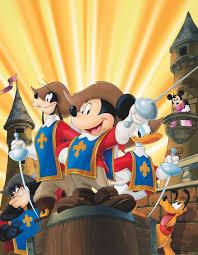 116 disney mickey donald goofy musketeers