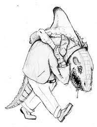 sketch please half shark alligator half man dr octagon