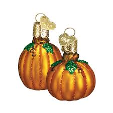 miniature pumpkin ornaments decorating fall harvest