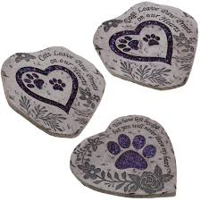 pet memorial garden stones paw prints garden stepping collection the animal rescue site