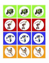 Rescue Bots Favors by Rescue Bots Cupcake And Favor Toppers Instant