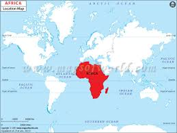 where is on the map where is africa africa location in map