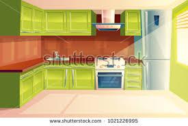 kitchen interior photos vector modern kitchen interior background template stock vector