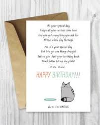 printable birthday cards black and white cat cards cat