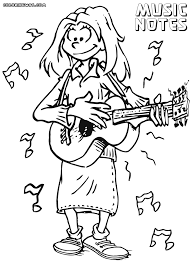 guitar coloring pages to print music notes coloring pages coloring pages to download and print