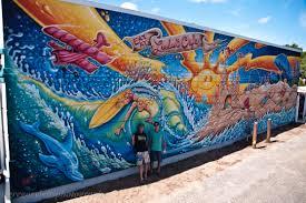 art murals by drew brophy interior exterior lulu s mural on ocean blvd myrtle beach