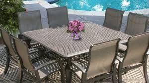 Hexagon Patio Table 8 Person Outdoor Dining Table Amazing Patio Cast Aluminum Set