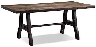 Rustic Pine Dining Tables Urban Splendor 7 Piece Dining Room Set Rustic Pine Leon U0027s