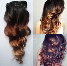 Hair Extension Tips by Clip In Natural Ombre Hair Extensions Black To Bronzed Brown