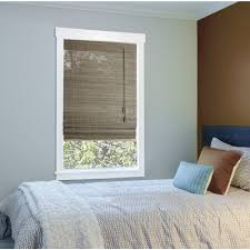 Burnt Bamboo Roll Up Blinds by Radiance Bamboo Shades U0026 Natural Shades Shades The Home Depot