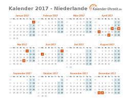 Kalendar 2018 Nederland Feiertage 2017 Niederlande Kalender übersicht