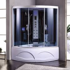 1001now 8008 corner steam shower enclosure with massage jets and