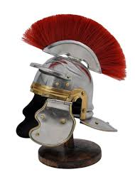 miniature roman imperial centurion historical helmet with red