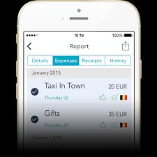 Travel Expense Report Form features mobilexpense