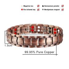 magnetic bracelet with germanium images Stylish pure copper magnetic therapy bracelet jpg