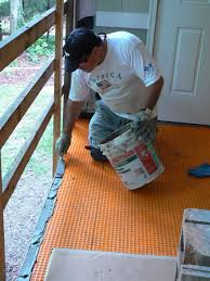 wood porch with a tile deck professional deck builder outdoor