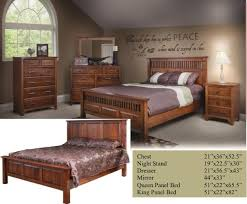 old world mission 5 pc bedroom set allwood furniture