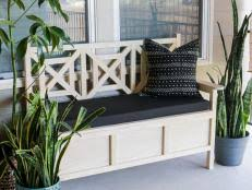 Build A Storage Bench Build An Upholstered Storage Bench Hgtv