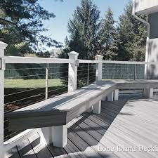 trex transcends deck in island mist color with trex rails and